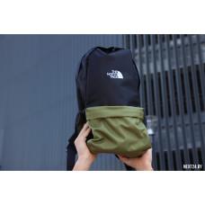 Рюкзак TNF черный+зеленый (вышивка)